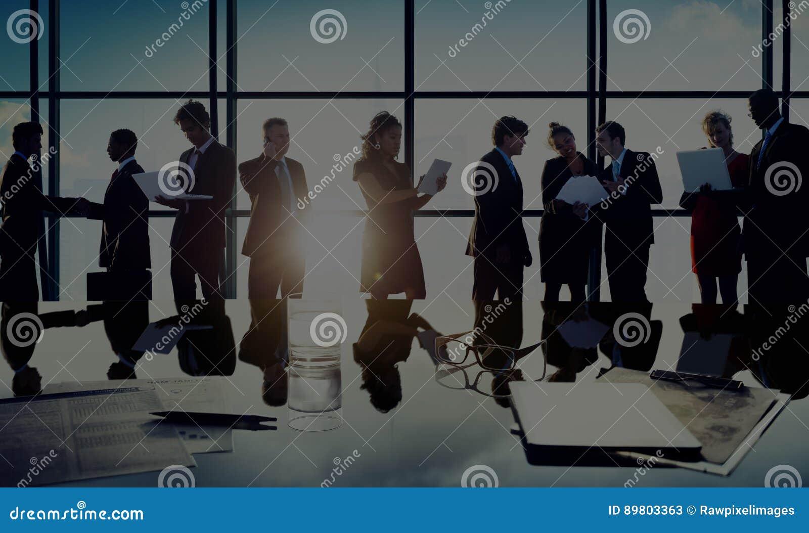 Geschäftsleute Kommunikations-Planungs-Plan-Konzept-