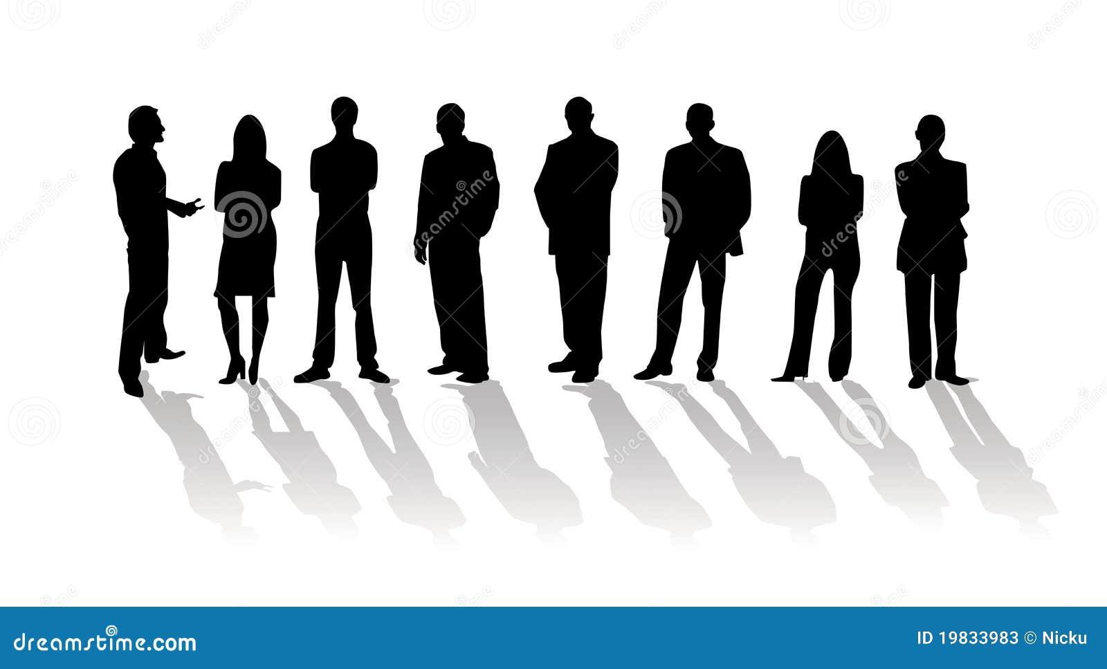 Geschäftsleute Schattenbild