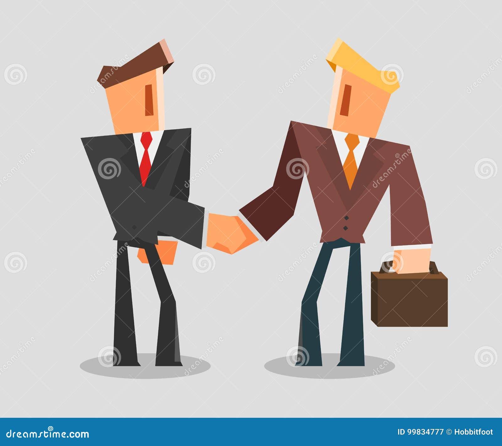 Geschäftsmänner, die Hände rütteln Erfolgreiches Abkommen-Konzept
