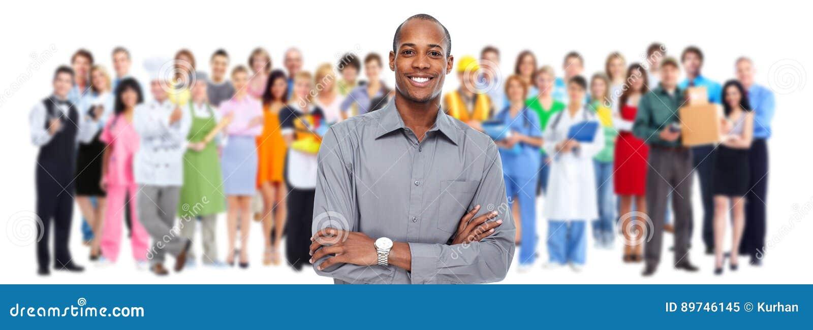 Geschäftsmänner und Arbeitskraftgruppe Teamfunktion