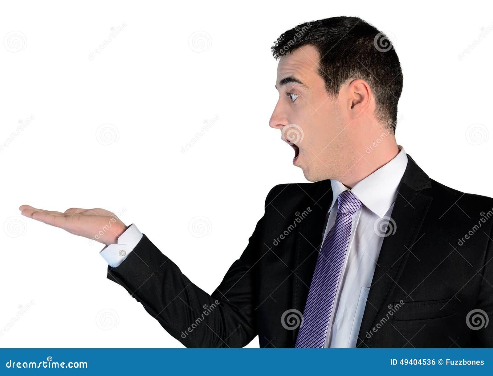 Download Geschäftsmann überrascht Mit Leerer Palme Stockfoto - Bild von bildschirmanzeige, loud: 49404536
