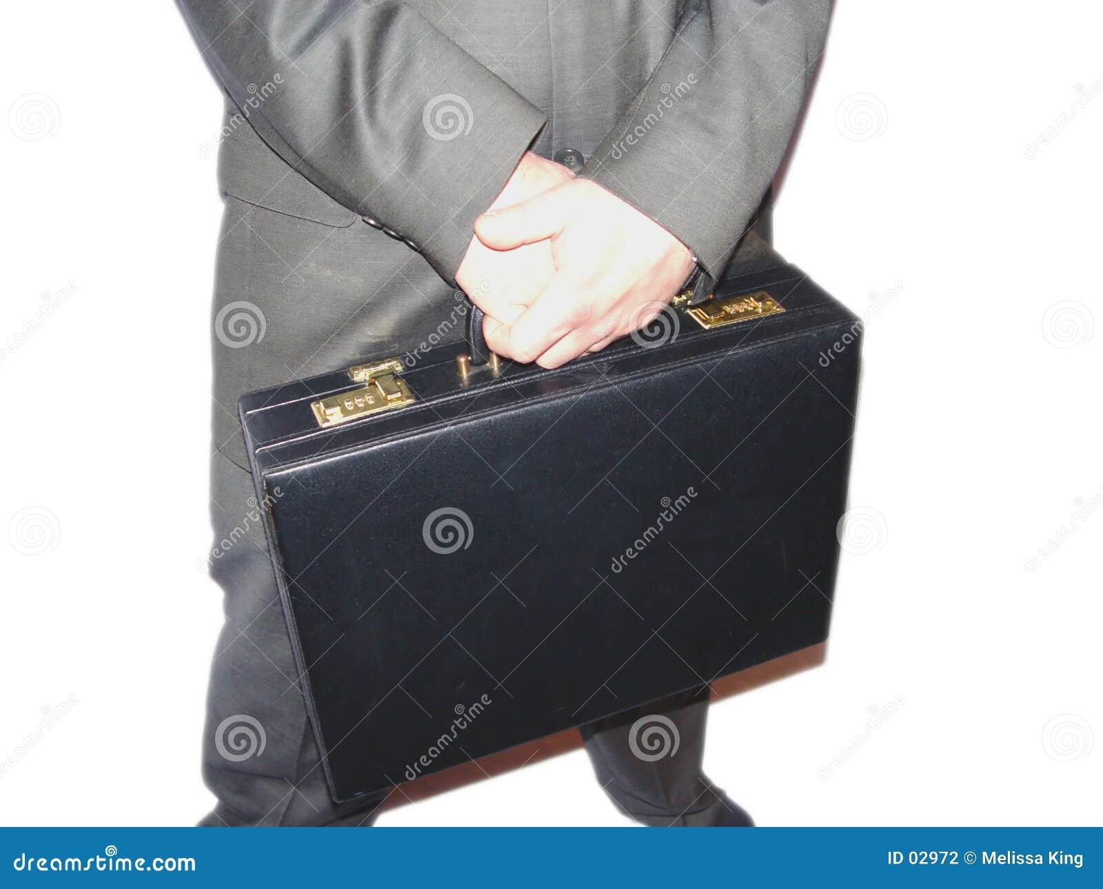 Geschäftsmann mit Aktenkoffer