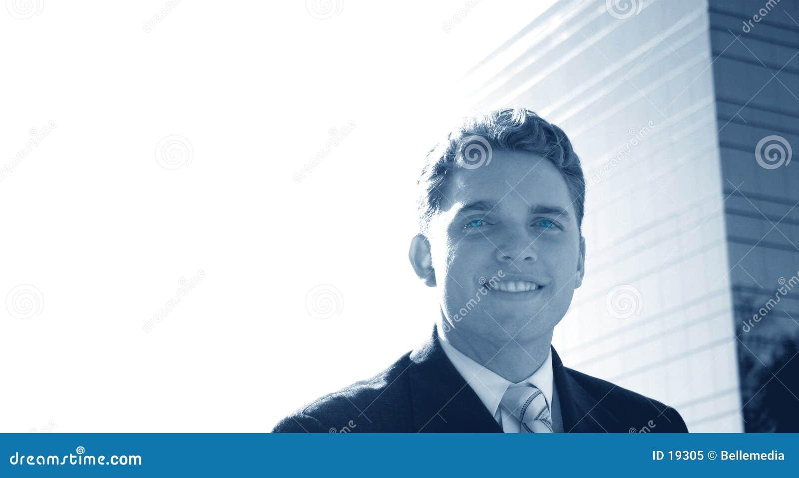 Geschäftsmann mit einem Lächeln