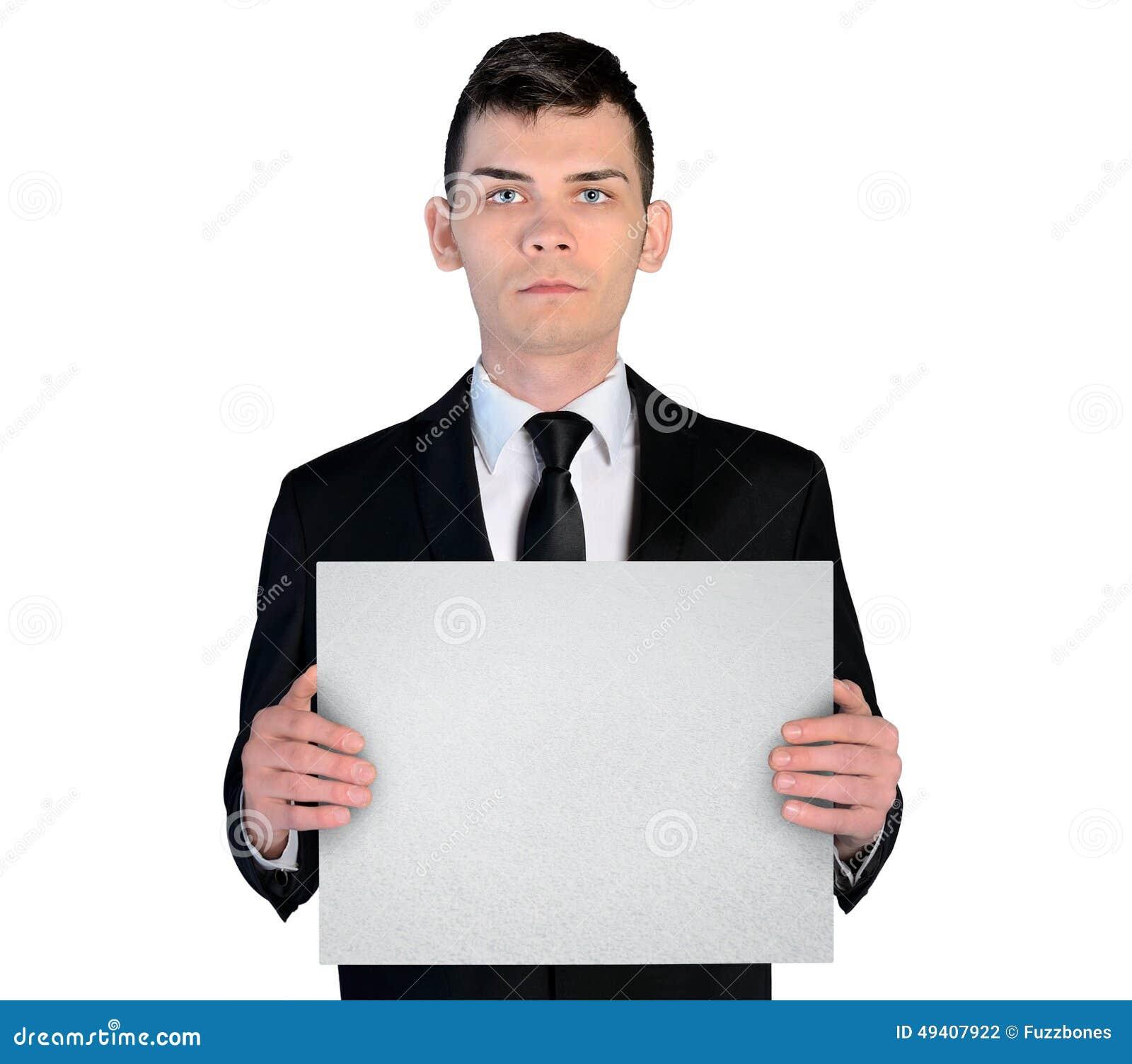 Download Geschäftsmann mit Vorstand stockfoto. Bild von manager - 49407922