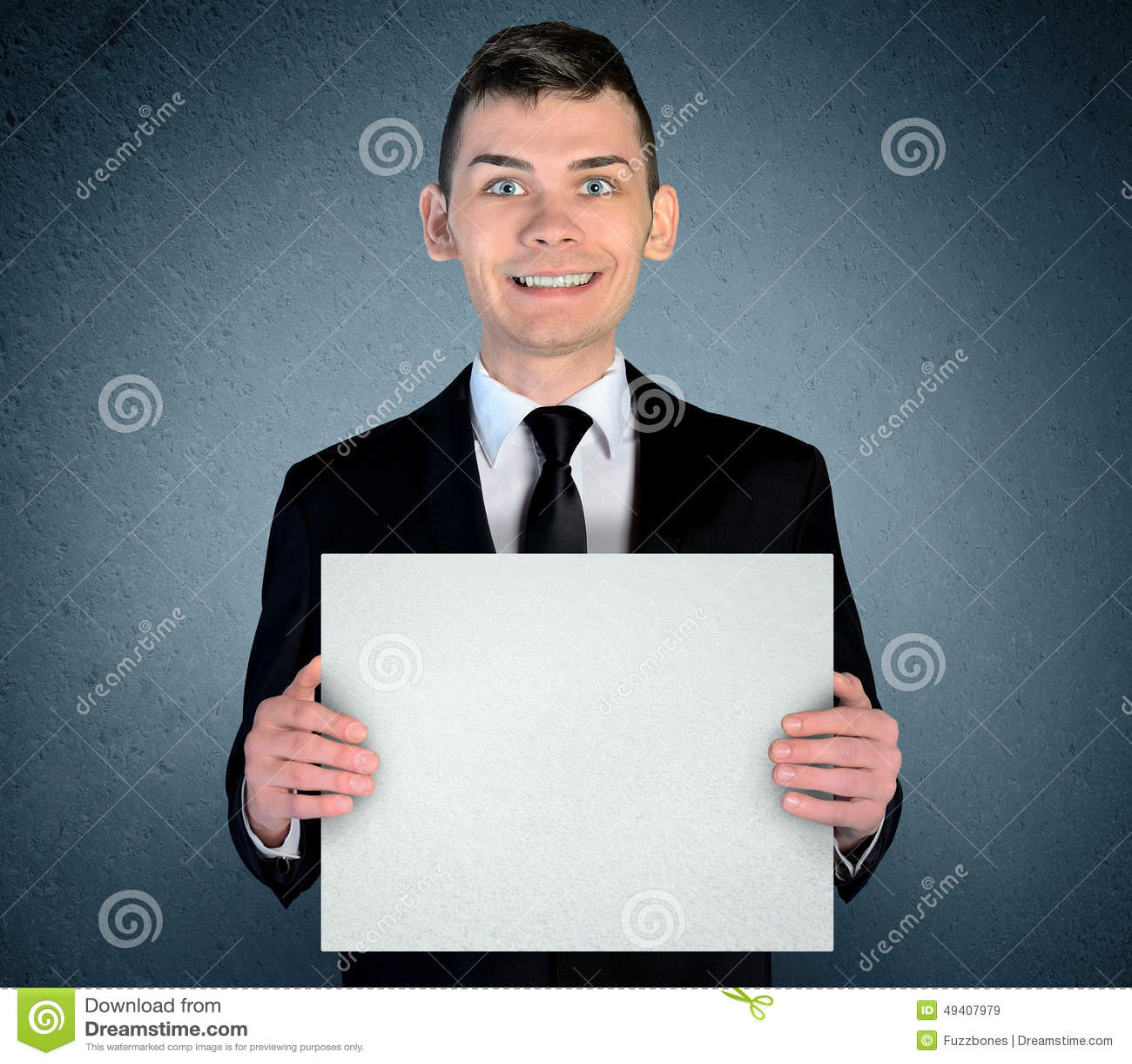 Download Geschäftsmann mit Vorstand stockbild. Bild von leerzeichen - 49407979