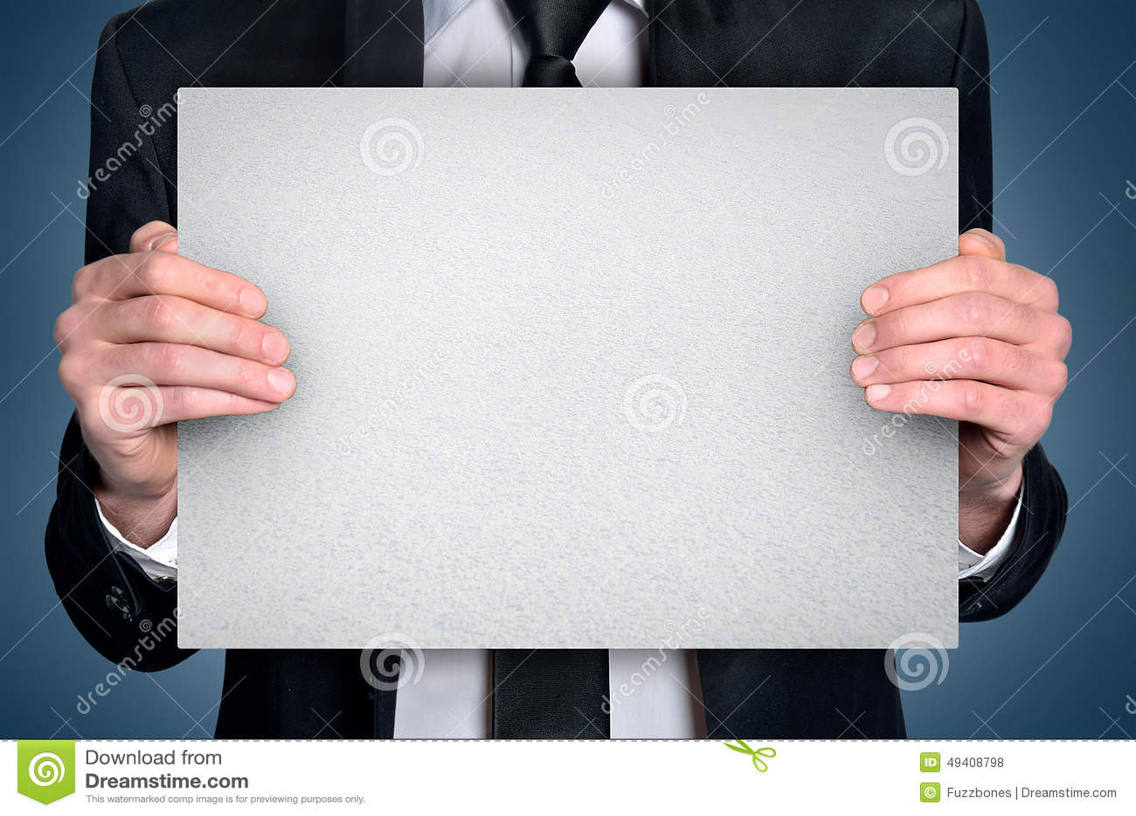 Download Geschäftsmann mit Vorstand stockfoto. Bild von karte - 49408798