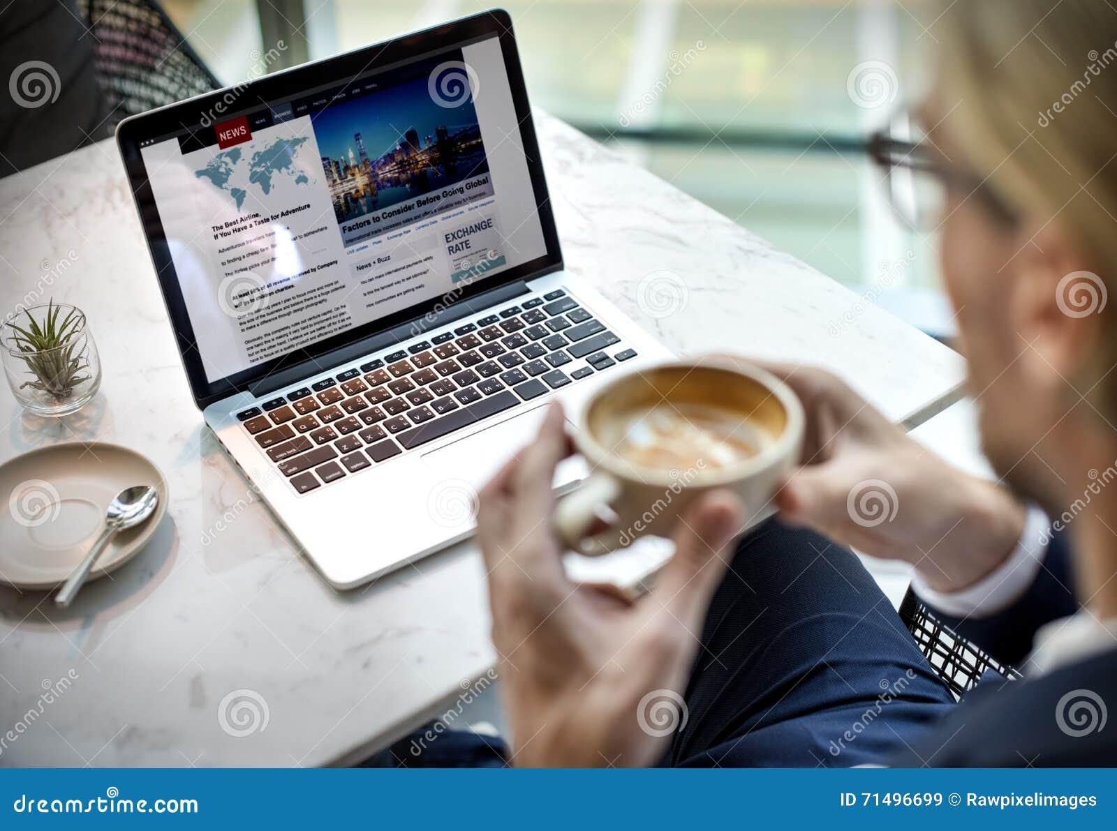 Geschäftsmann-Relax Coffee Break-Konzept