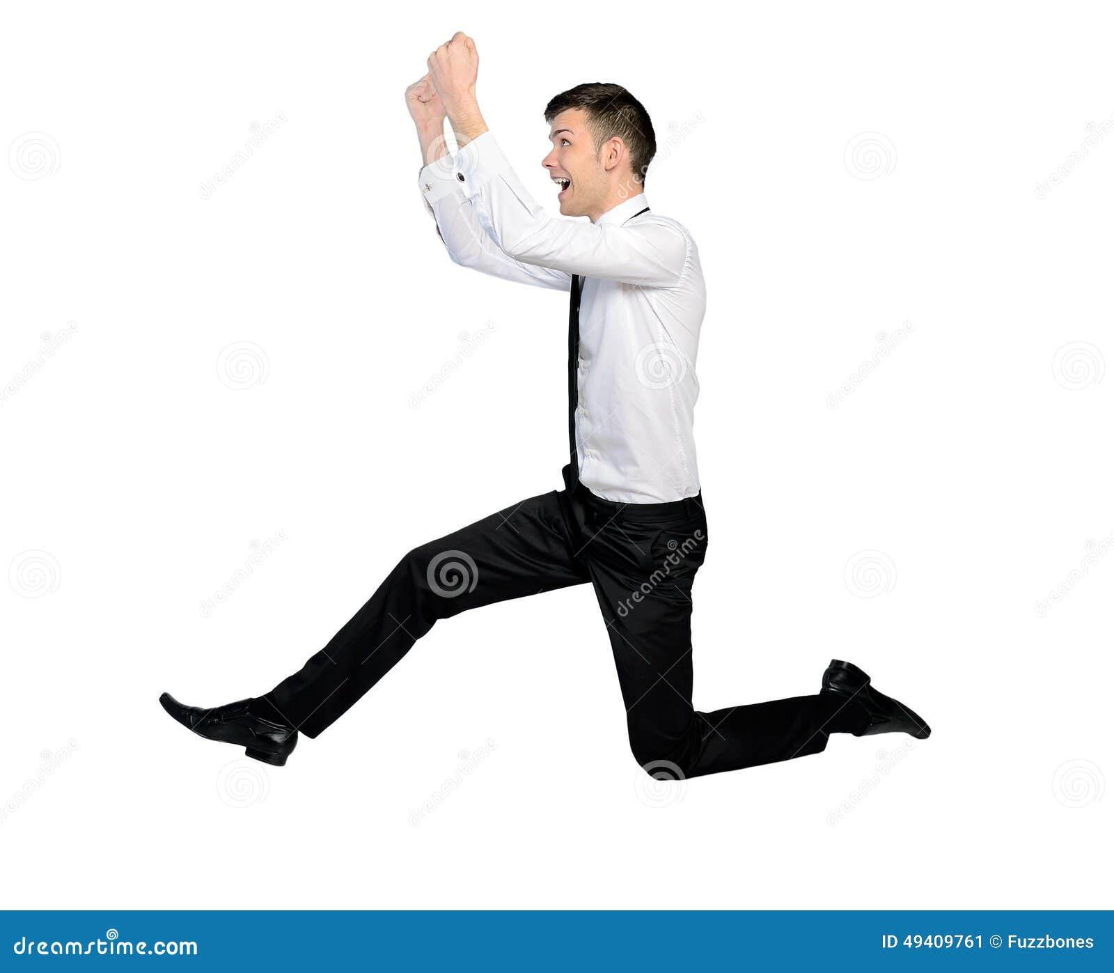 Download Geschäftsmann springen stockbild. Bild von konkurrenz - 49409761