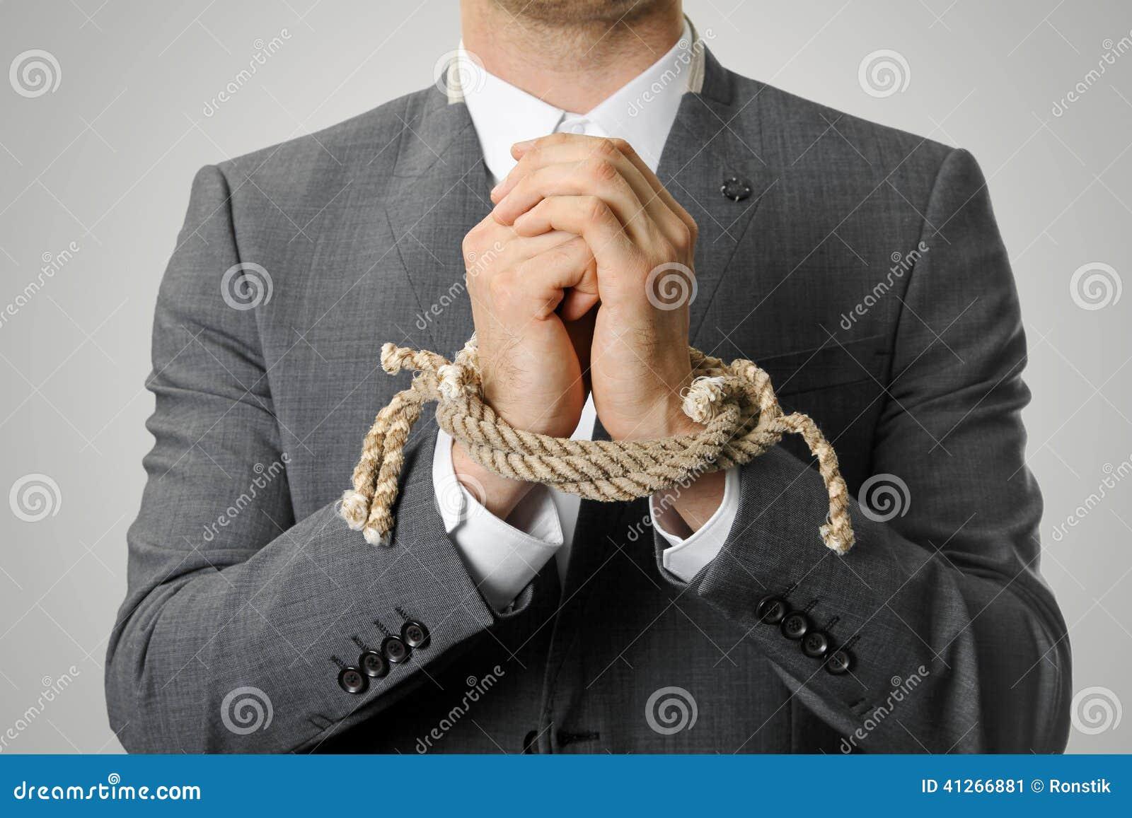 Geschäftsmann With Tied Hands