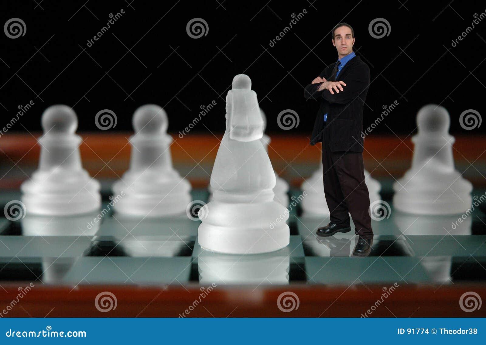 Geschäftsmann und chess-6