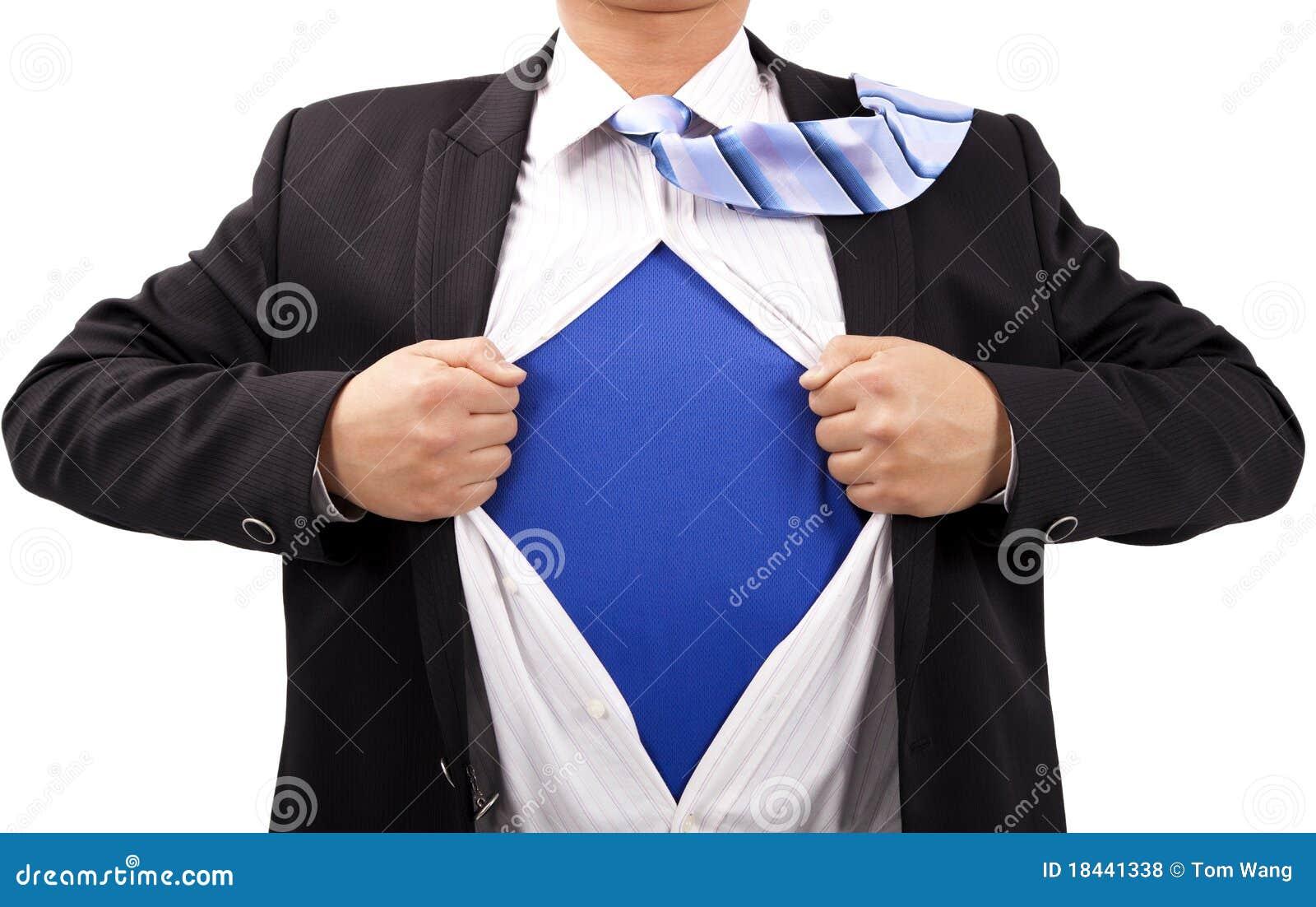 Geschäftsmann und Supermann