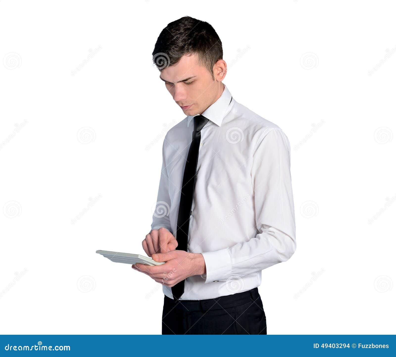 Download Geschäftsmannberechnung stockfoto. Bild von einfluß, erwachsener - 49403294