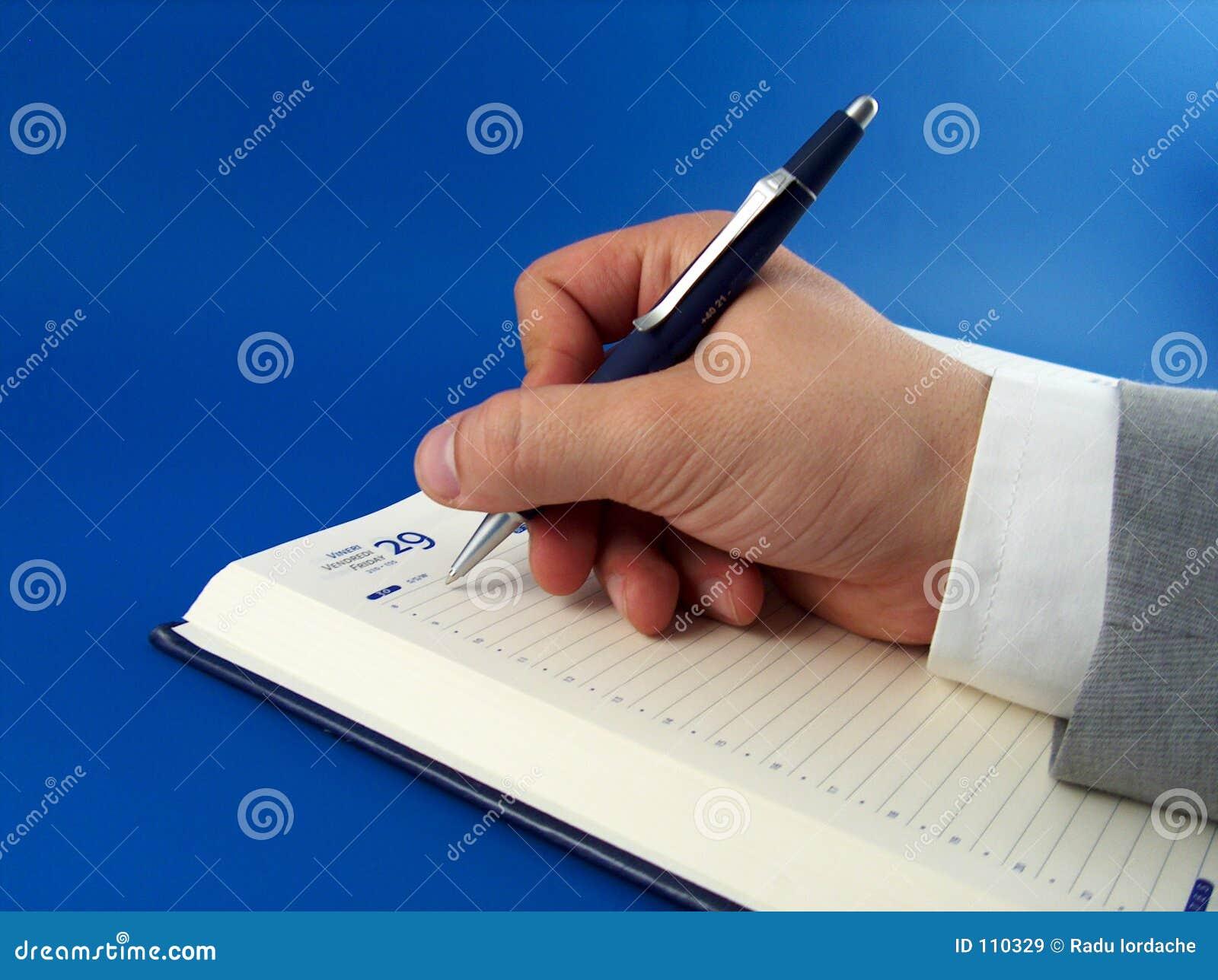 Geschäftsmannschreiben