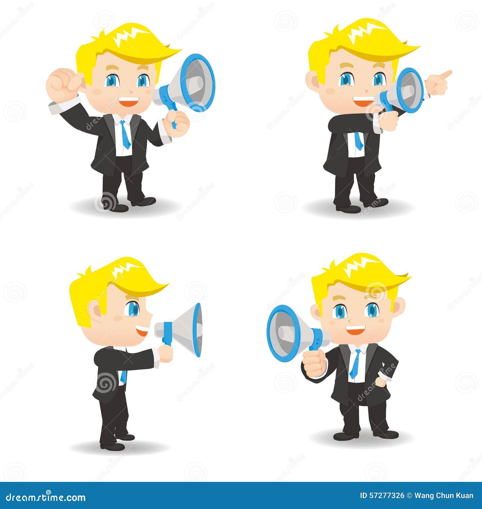 Geschäftsmannshowtrompete