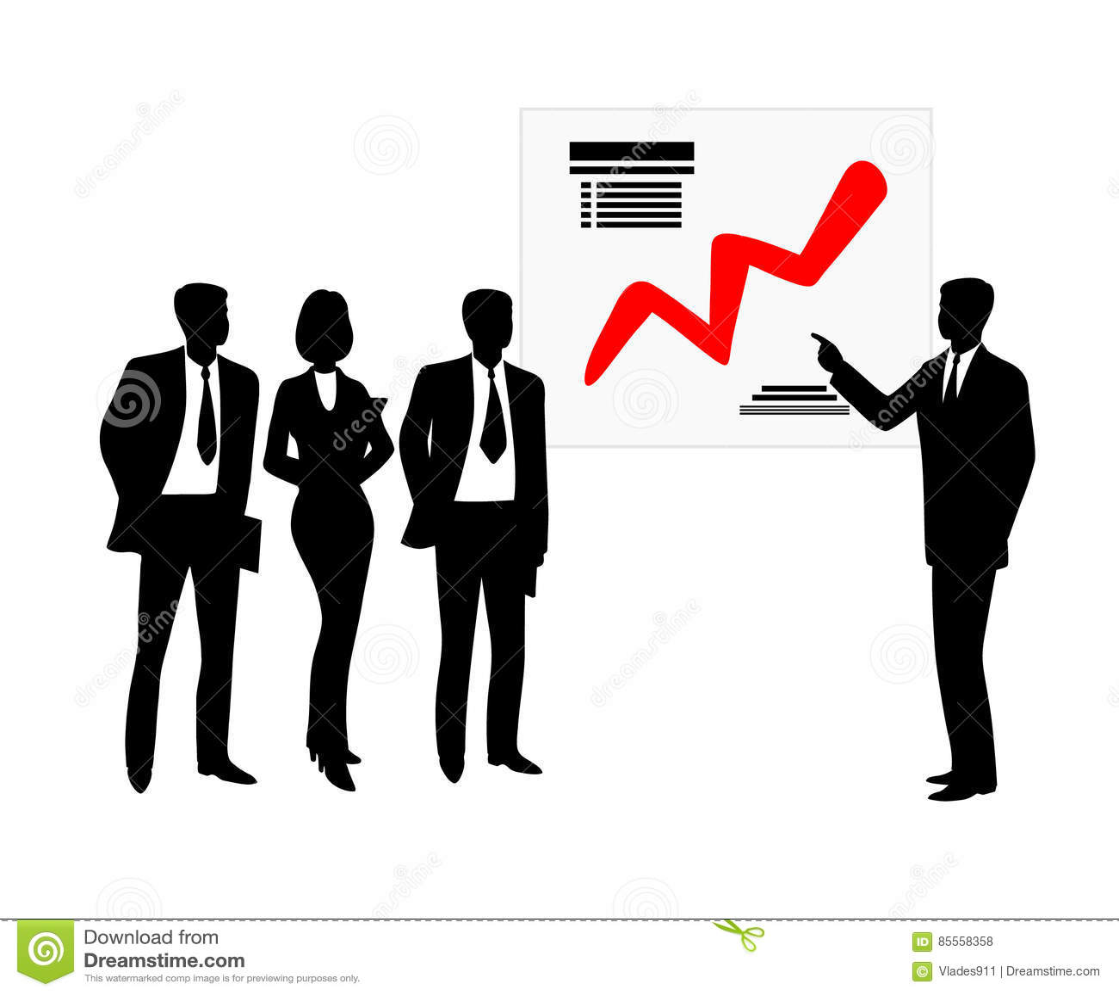 Geschäftsmannshowzeitplan Auch im corel abgehobenen Betrag Schattenbild
