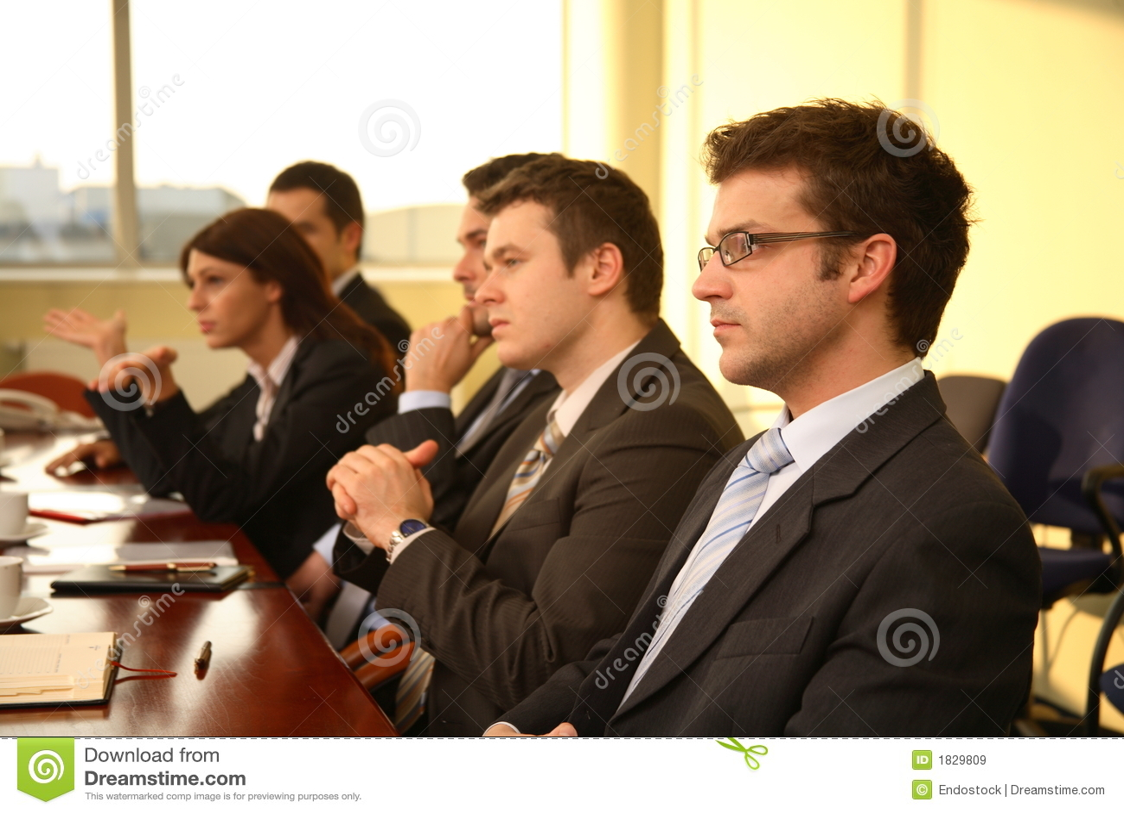 Geschäftspersonen bei der Konferenz