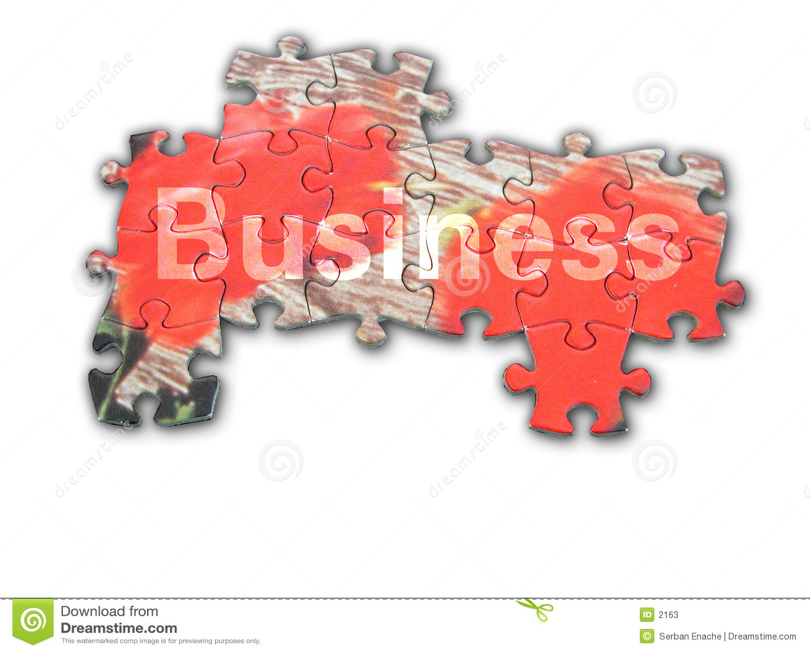 Geschäftspuzzlespiel