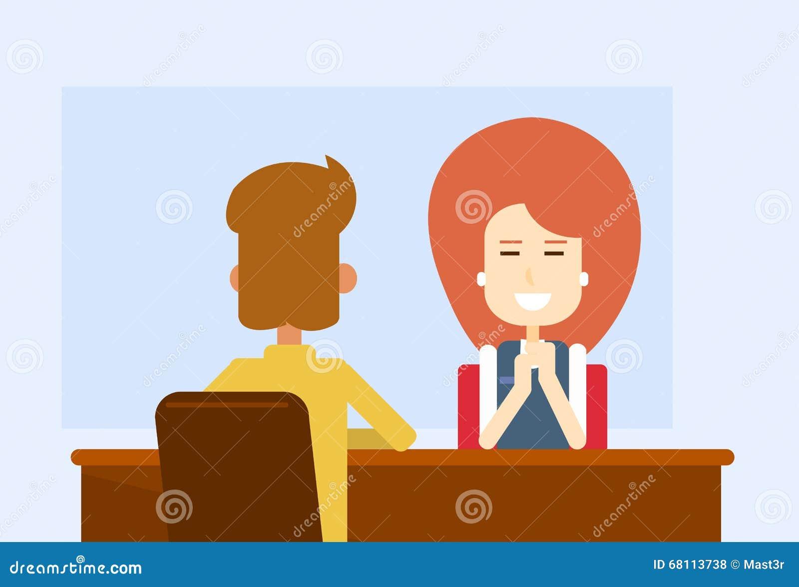 Geschäftstreffen-Büro-Frau Sit Table With Client