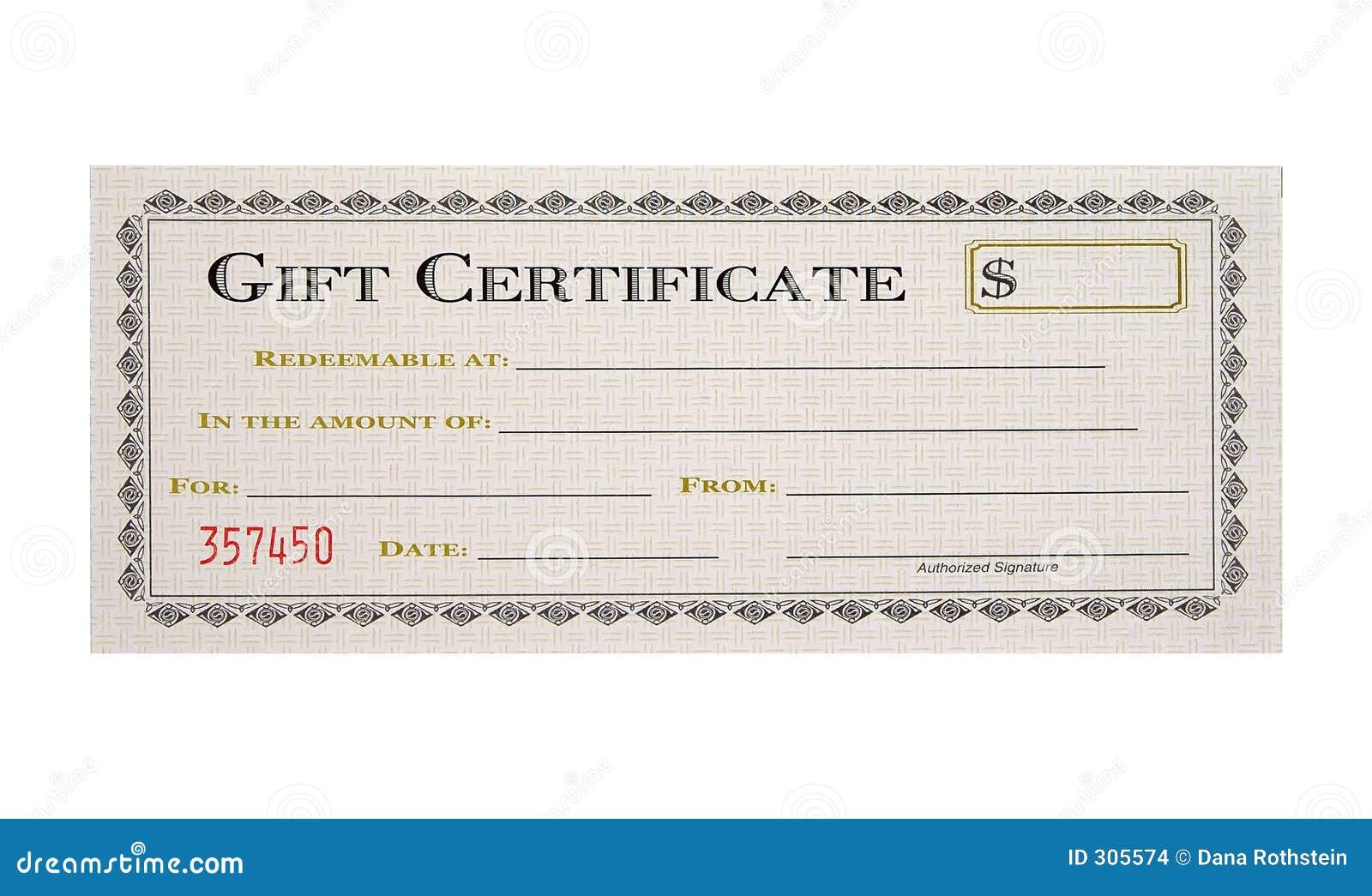 Geschenk-Bescheinigung Stockbilder - Bild: 305574