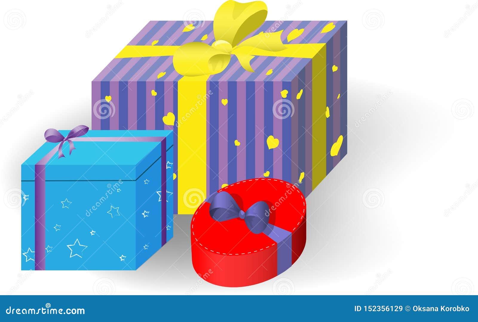 Geschenk Boxes das Feiertags-Weihnachten, neues Jahr, Geburtstag, Tag des Valentinsgruß-s