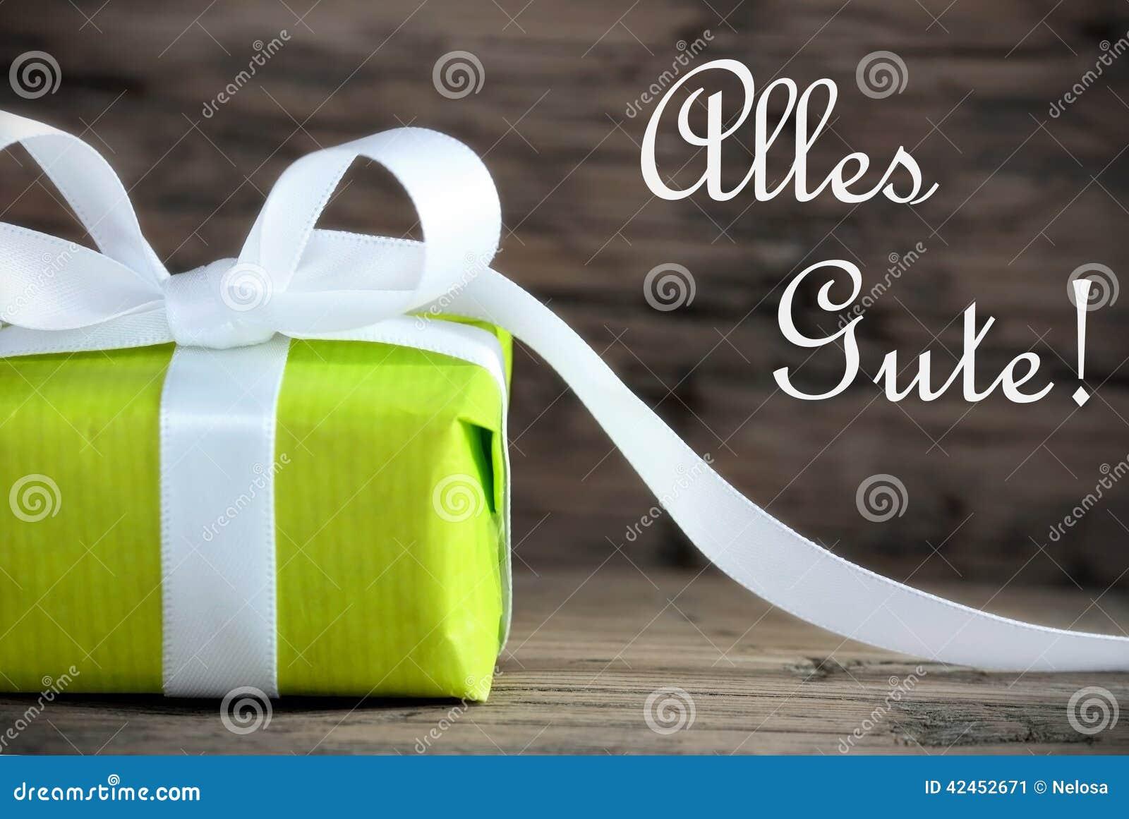 Geschenk mit Alles Gute