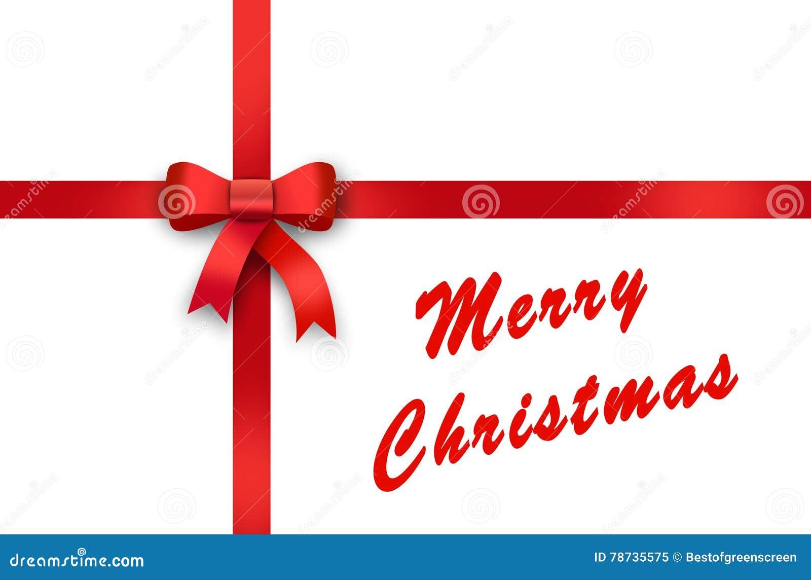 Frohe Weihnachten Band.Geschenk Rotes Band Rote Schleife Bogen Frohe Weihnachten Stock