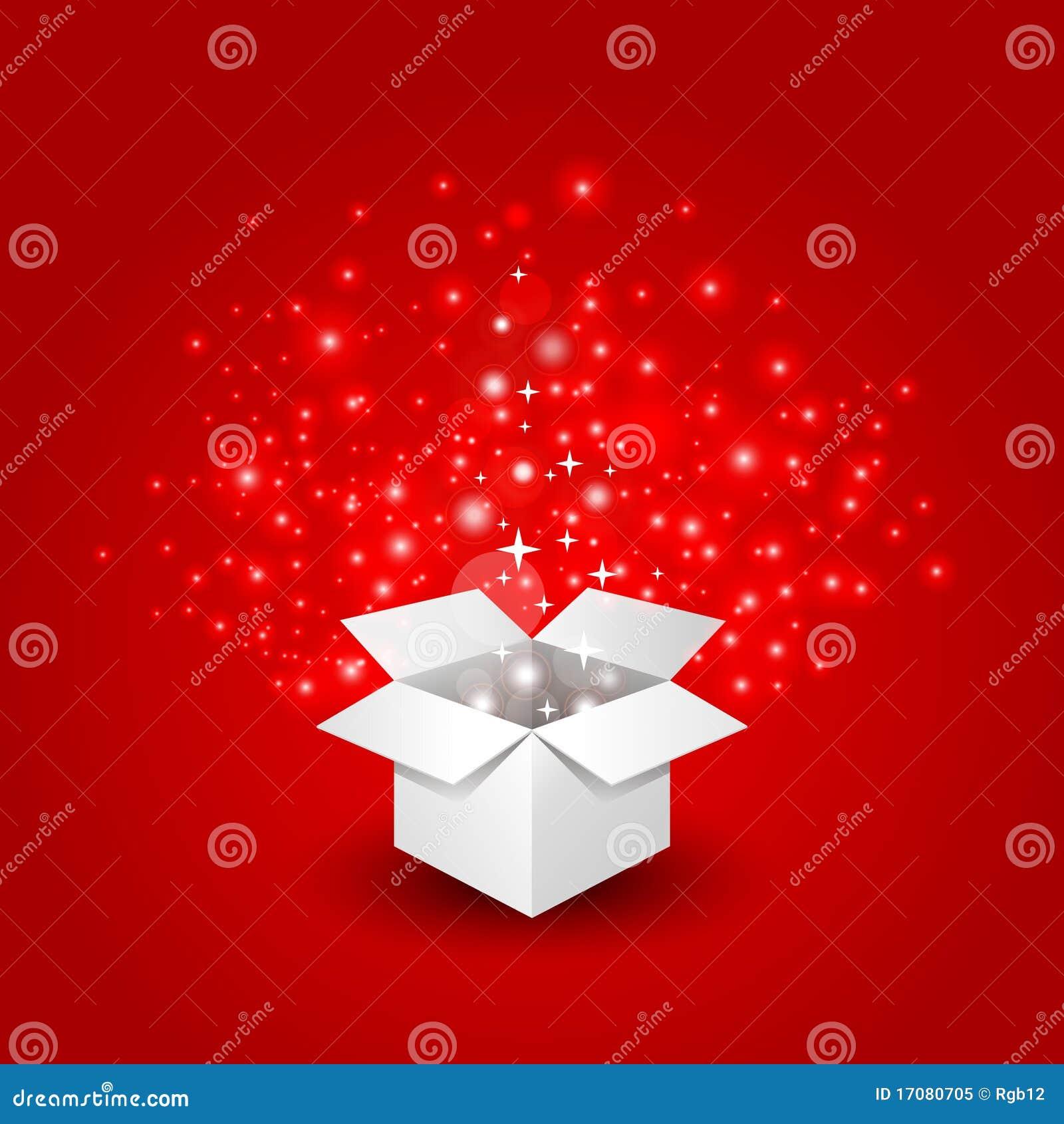 Geschenkbox mit einer großen Überraschung