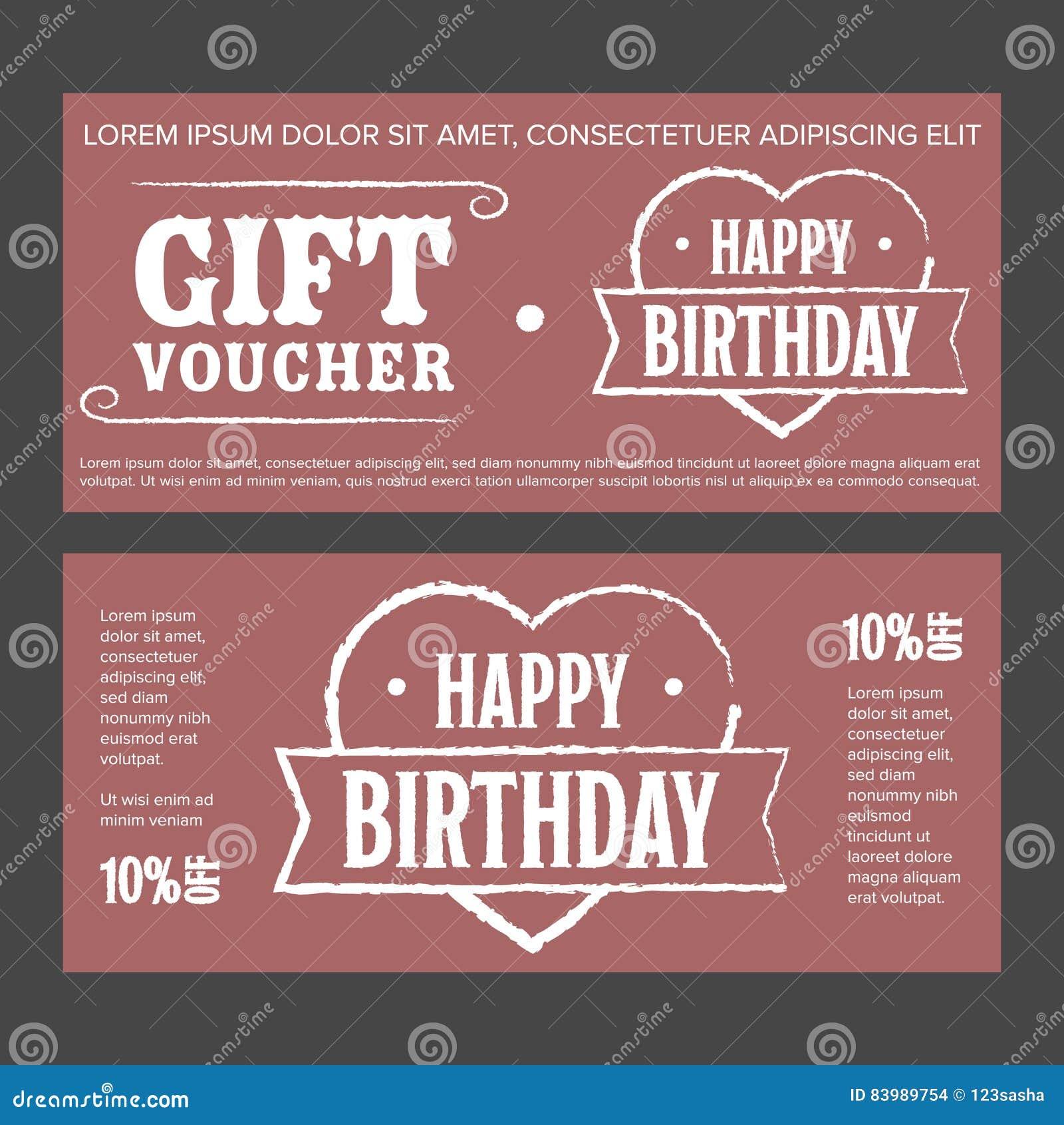 Geschenkgutschein Für Geburtstag Vektor Abbildung