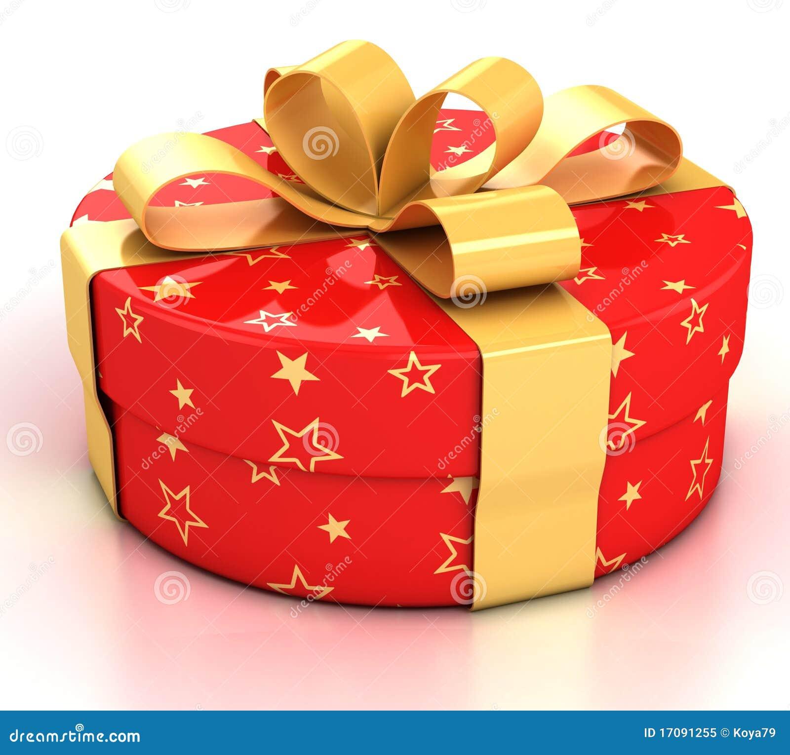 Geschenkkasten über weißem Hintergrund