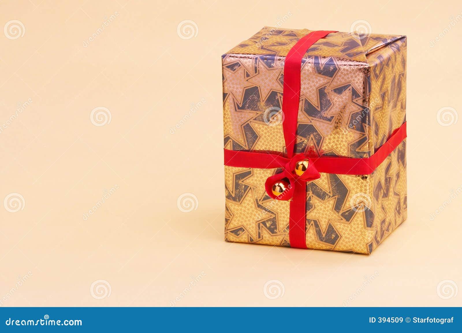 Geschenkpaket χρυσό δέμα goldenes