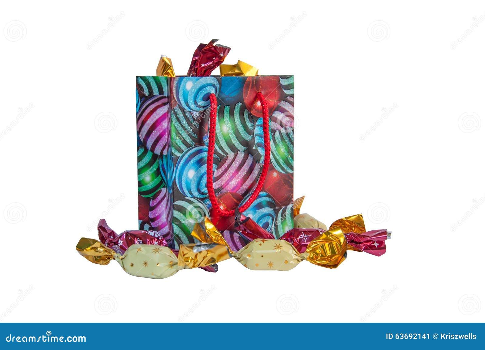 Geschenkpaket Stockbild Bild Von Paket Sussigkeiten 63692141