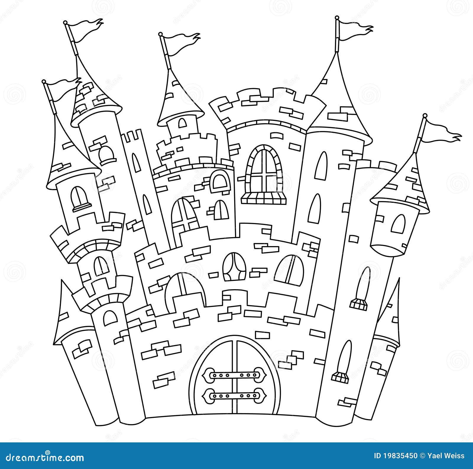 geschetst kasteel vector illustratie illustratie