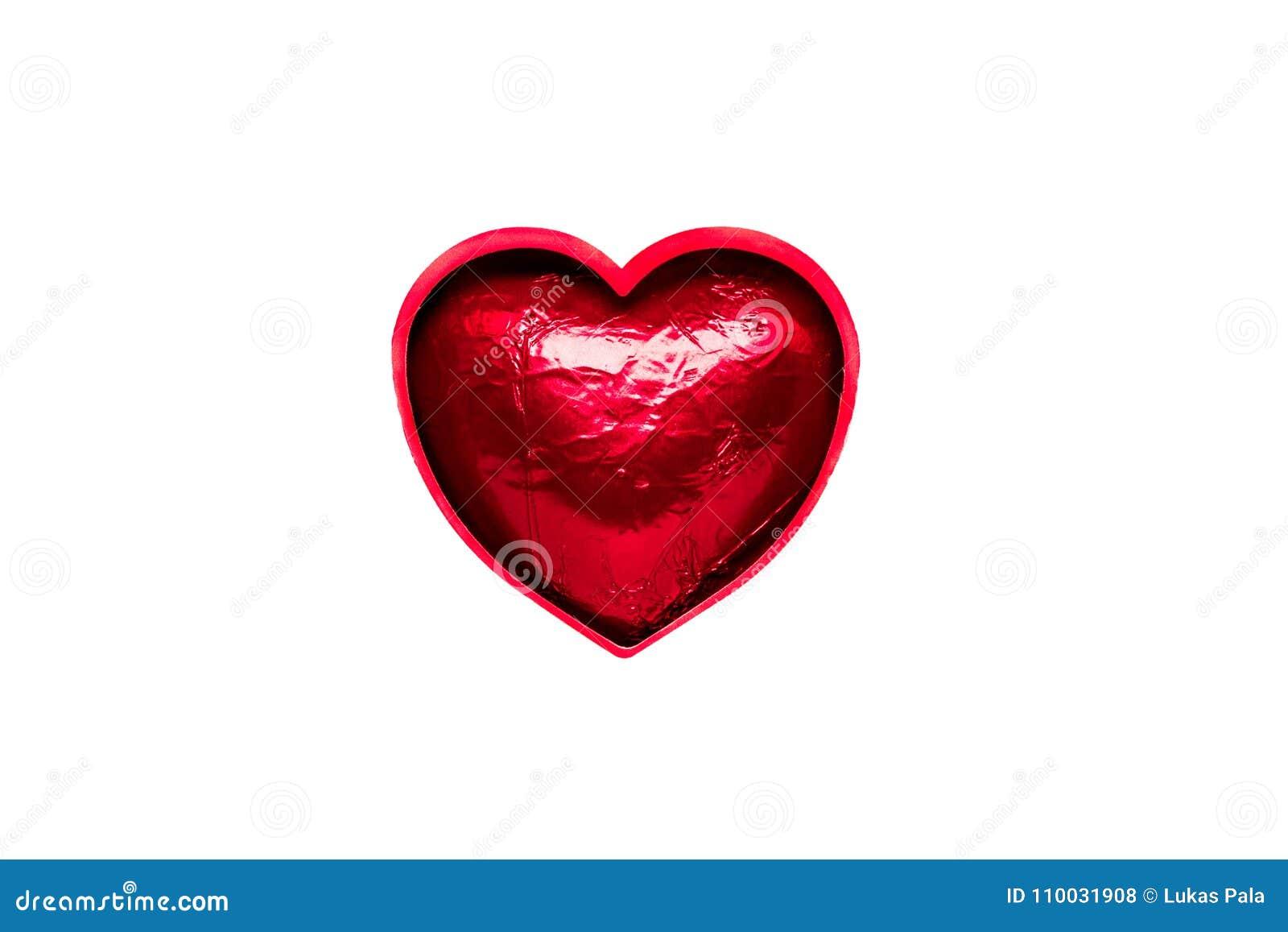 Geschetst rood hart in folie