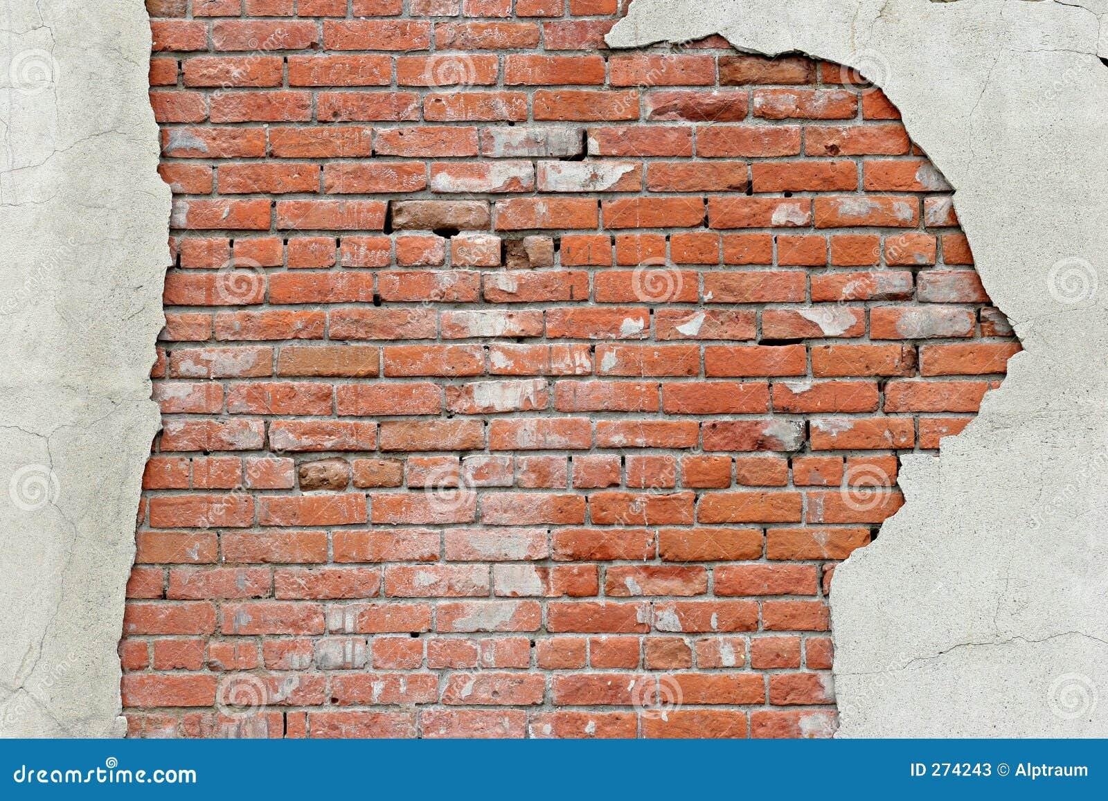 Gescheurde bakstenen muurachtergrond