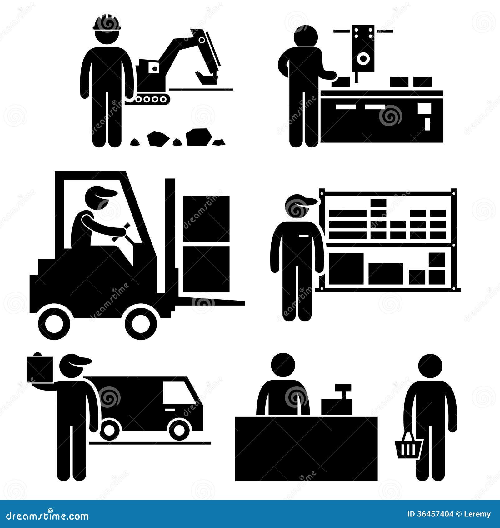 Geschäfts-Ökosystem-Piktogramm Stockbilder - Bild: 36457404