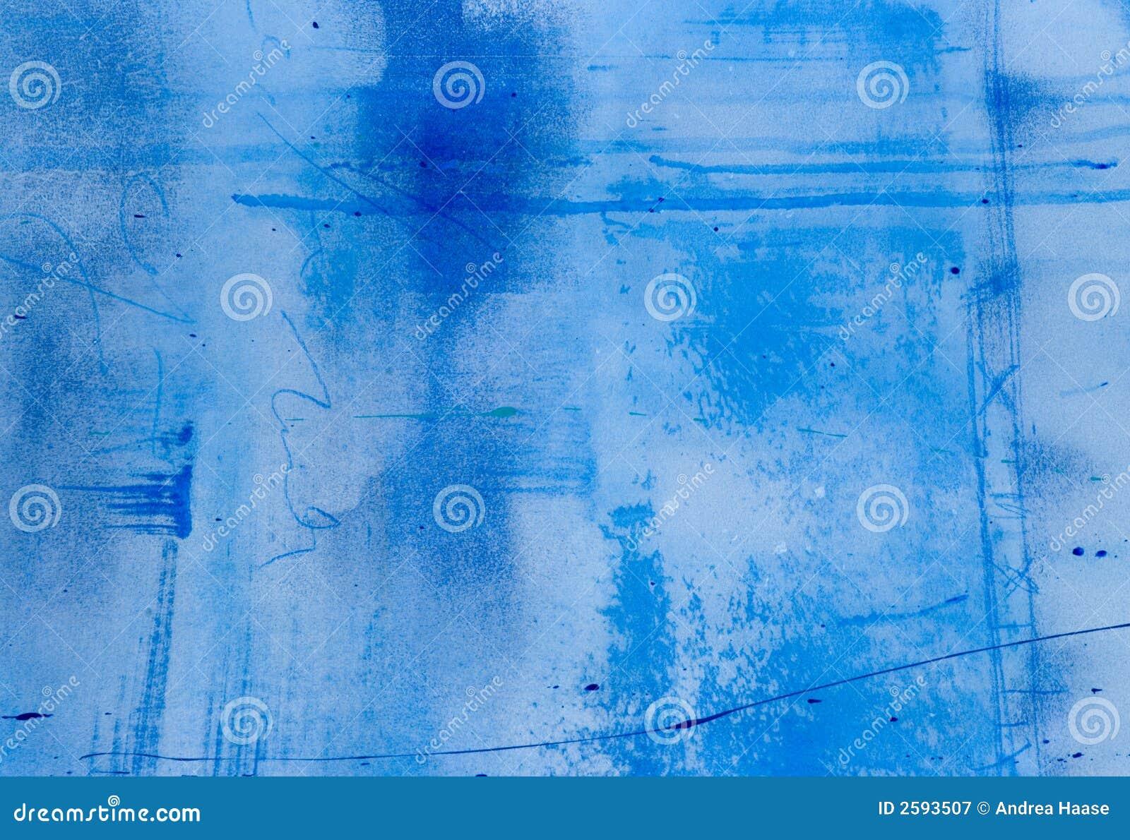 Geschilderde blauwe achtergrond