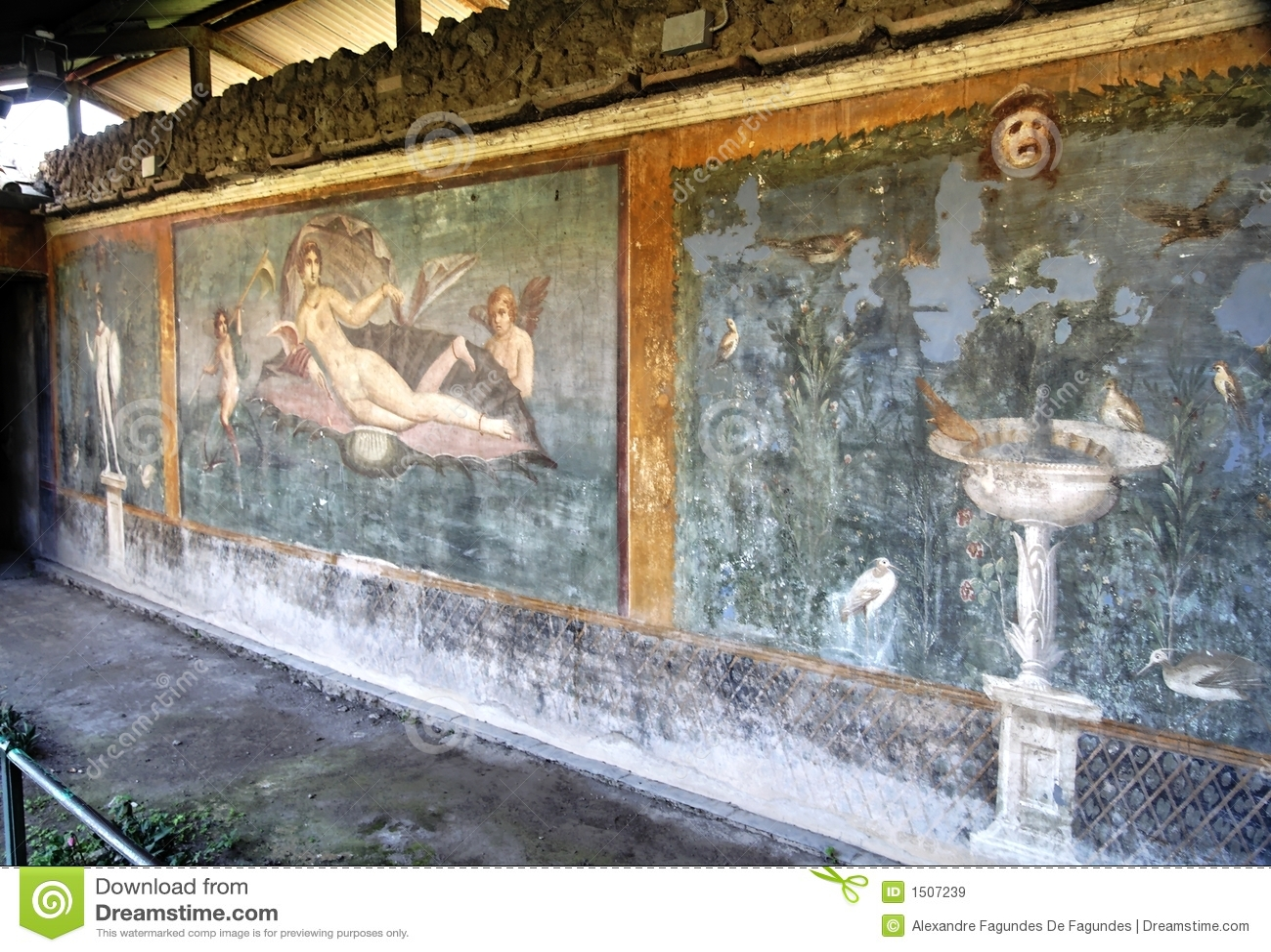 Mozaïek en pool   pompei royalty vrije stock fotografie ...