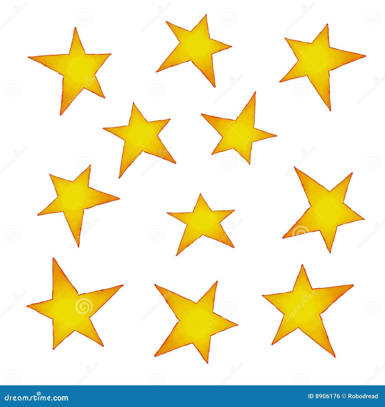 geschilderde sterren 8906176 - Behang Met Sterren