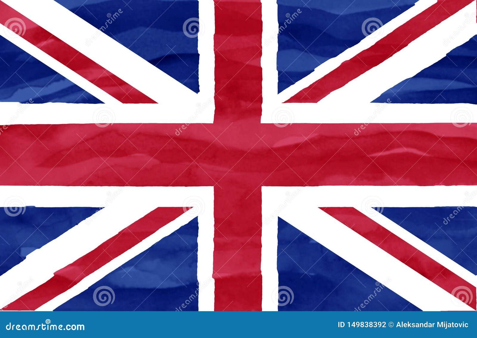 Geschilderde vlag van het Verenigd Koninkrijk