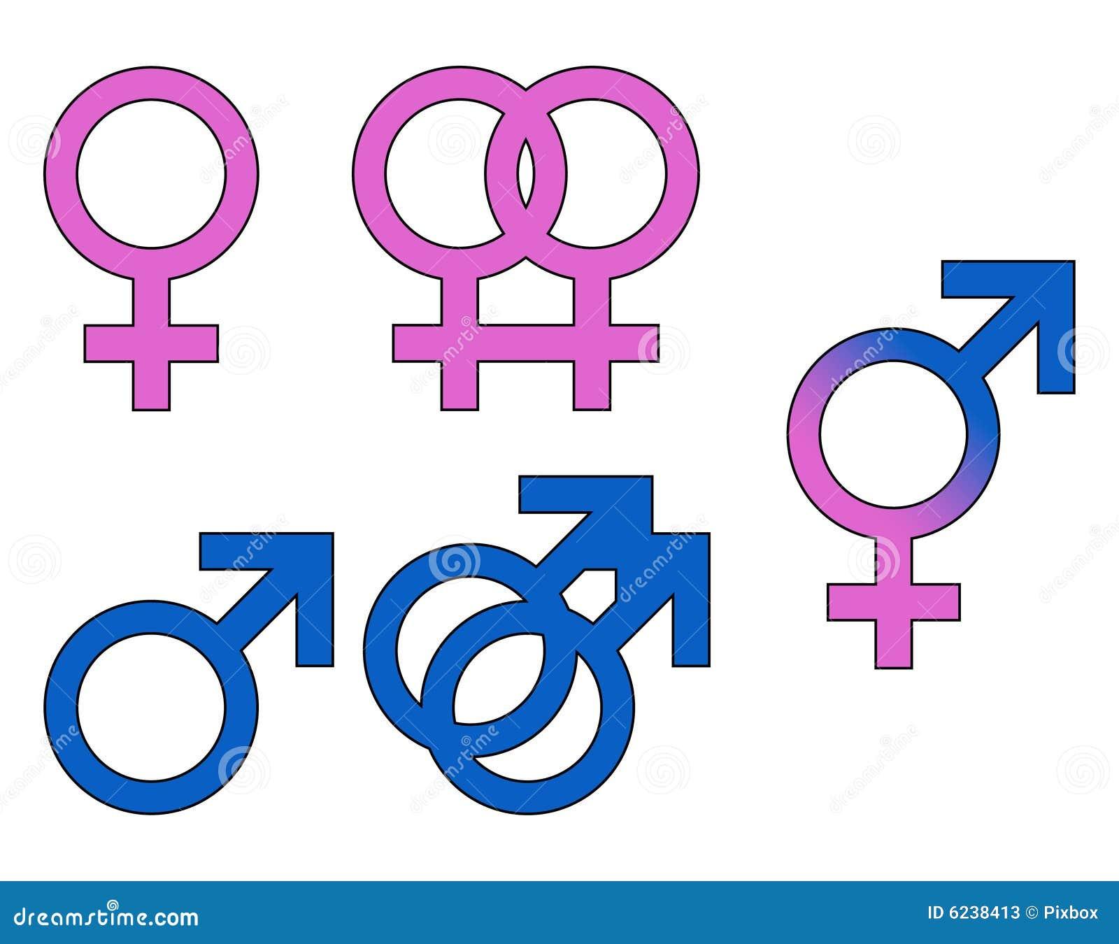 Geschlechts-Symbol-Mann, Frau Vektor Abbildung