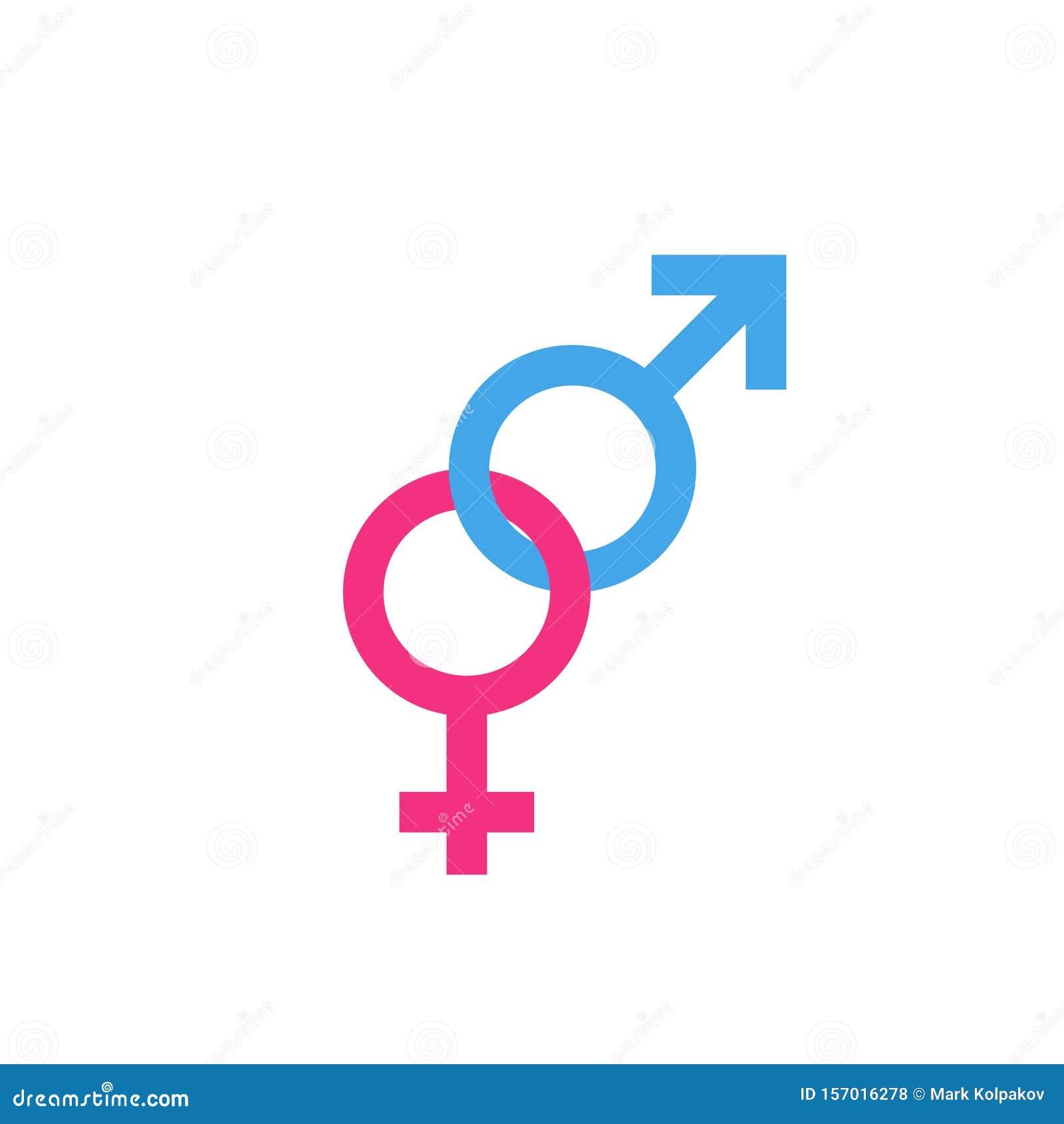 Geschlechtsspezifische Symbole Für Mann Und Frau Vektor