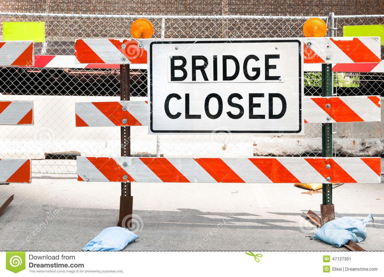 Geschlossenes Zeichen der Brücke