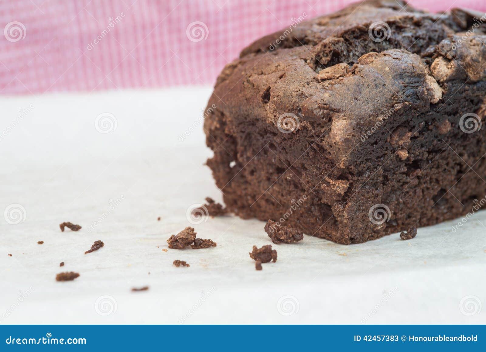 Geschmackvoller handgemachter Schokoladensplitterlaibkuchen