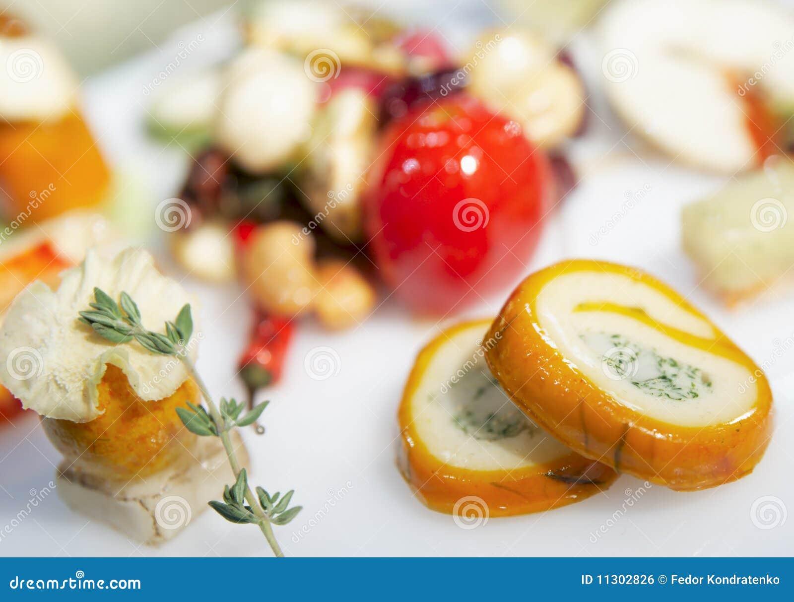 Geschmackvoller Imbiß auf Gaststättetabelle
