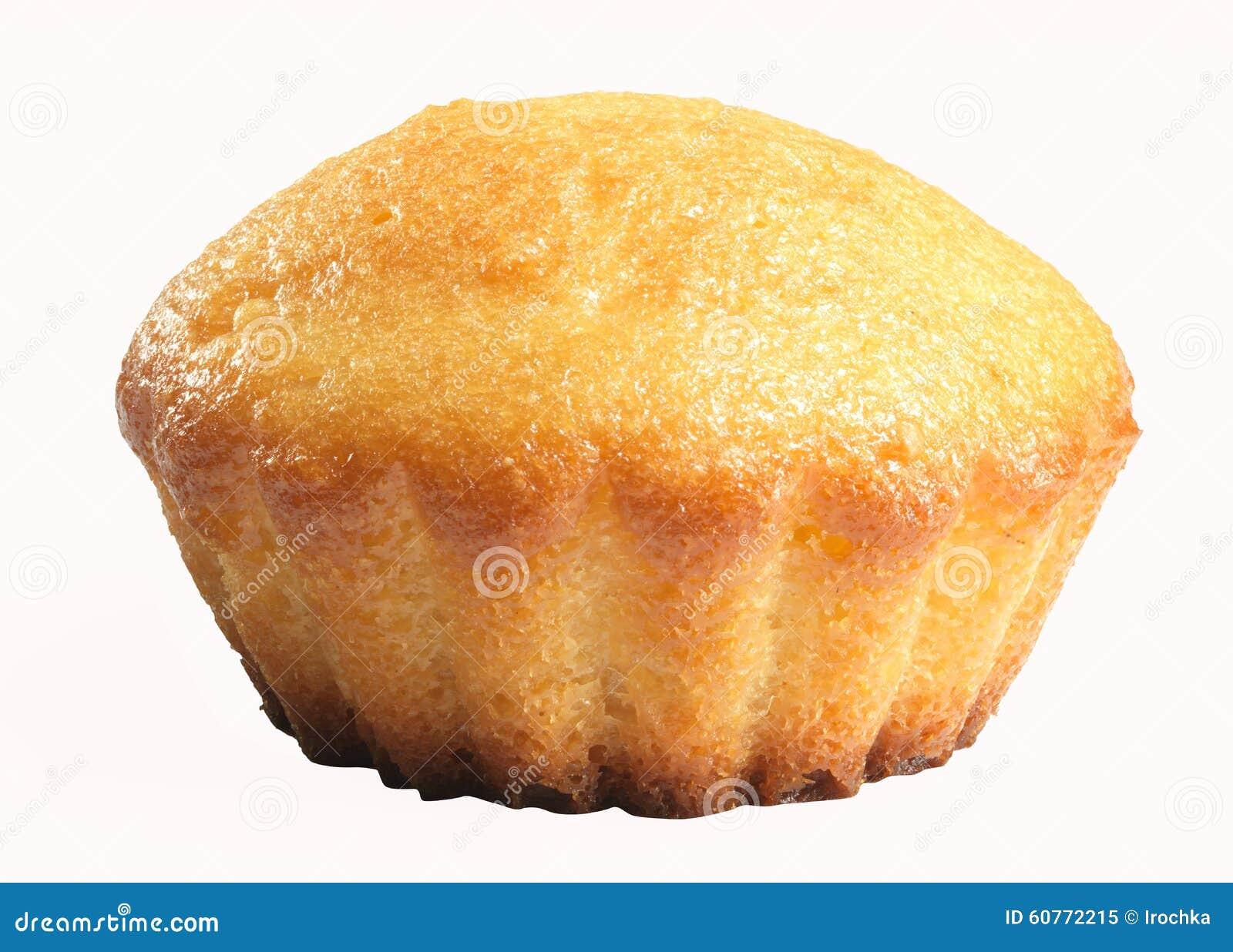 Geschmackvolles Muffin auf weißem Hintergrund