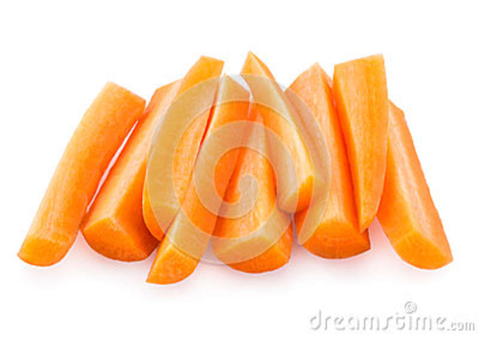 Geschnittene Karotte
