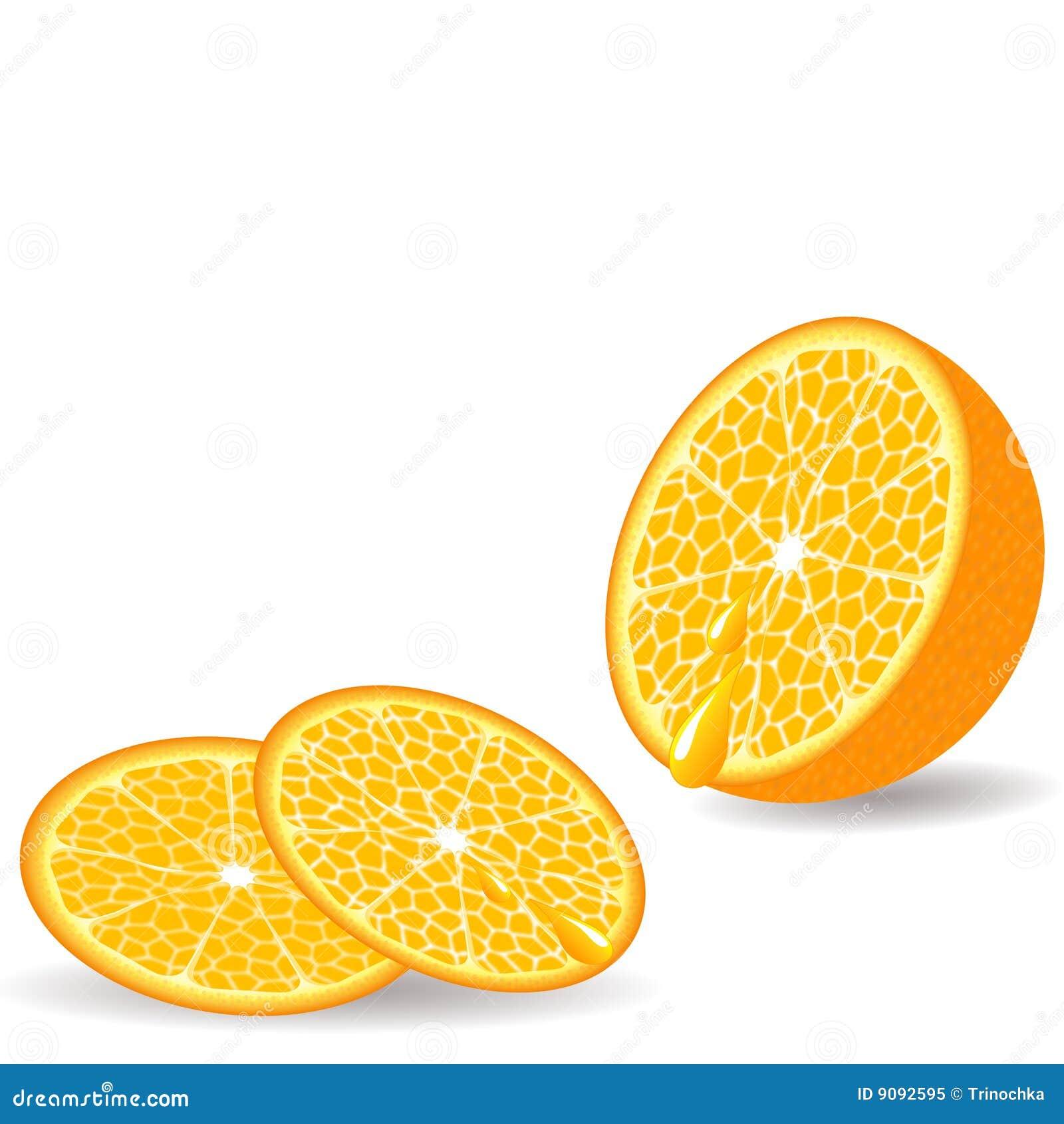 Geschnittene Orange