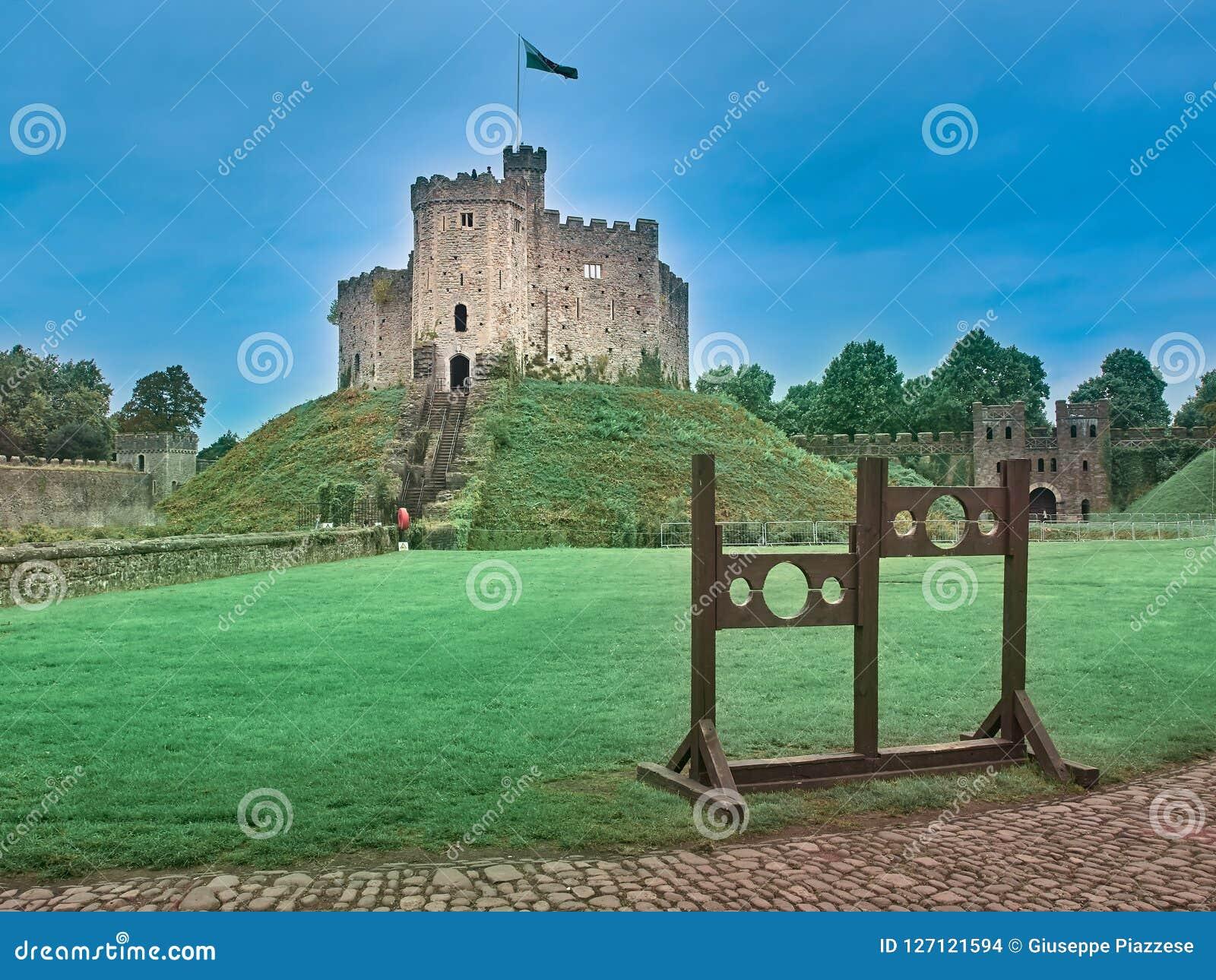 Geschossen vom Schloss von Cardiff