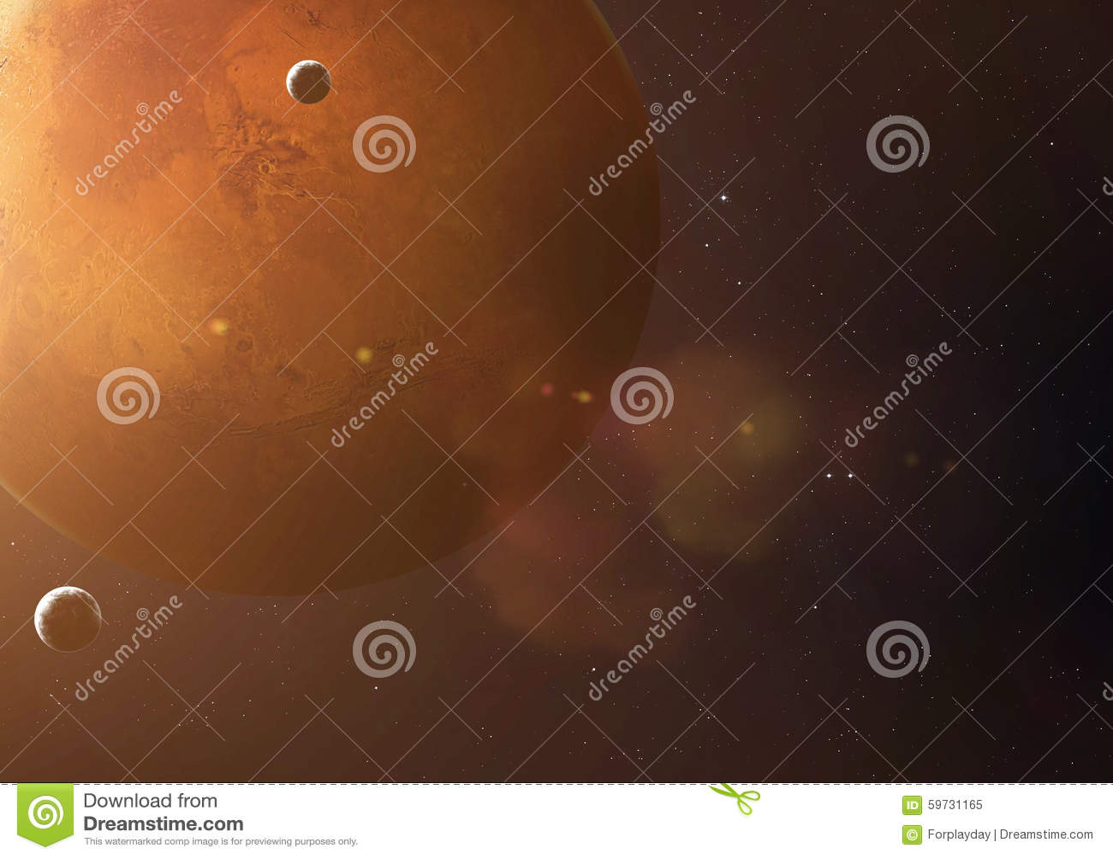 Geschoten die van Mars uit open plek wordt genomen Collagebeelden