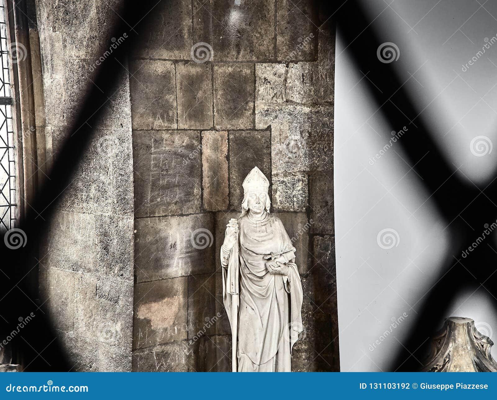 Geschoten van een standbeeld in St Stephans Kathedraal
